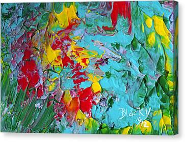 Down The Garden Path Canvas Print by Donna Blackhall