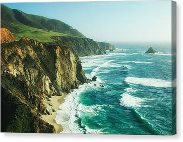 Canvas Print featuring the photograph Down The Pacific Coast Highway... by Photography  By Sai