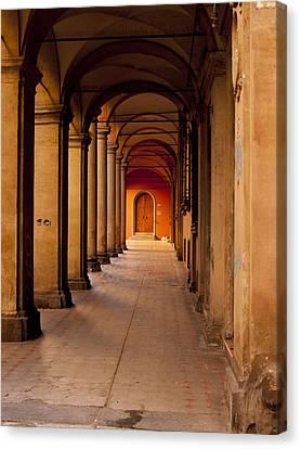 Down The Portico Canvas Print by Rae Tucker