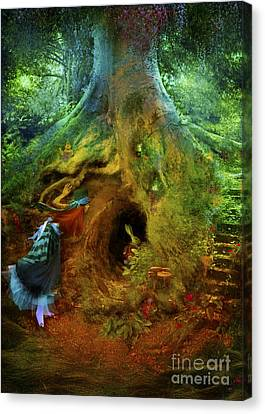 Down The Rabbit Hole Canvas Print by Aimee Stewart