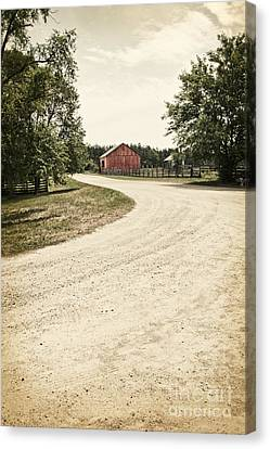 Down The Road Canvas Print by Margie Hurwich
