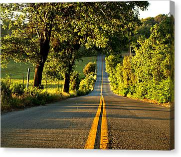 Down The Road Canvas Print by Sharon Soberon