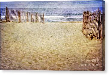 Canvas Print featuring the photograph Down The Shore by Debra Fedchin