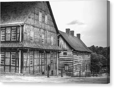 Down The Street In Old Salem Canvas Print by Diego Re