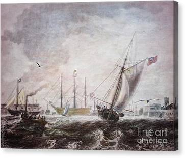 Ports Canvas Print - Down To The Sea In Ships by Lianne Schneider