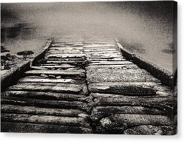 Canvas Print featuring the photograph Down To The Water by Arkady Kunysz