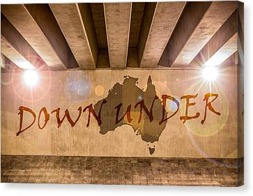 Down Under Map  Canvas Print by Semmick Photo
