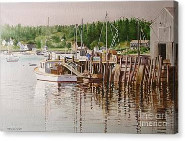 Downeast Reflections Canvas Print by Karol Wyckoff