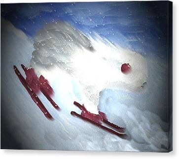 Downhill Racer Canvas Print