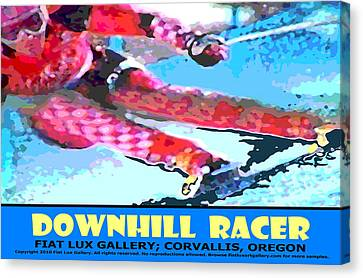 Downhill Racer Canvas Print by Michael Moore