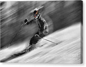 Downhill Skier  Canvas Print by Dan Friend