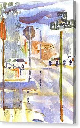 Downpour Canvas Print