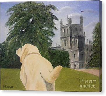 Golden Lab Canvas Print - Downton Abbey by Bev Conover