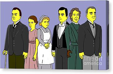 Canvas Print featuring the digital art Downton Abbey - Downstairs 6 by Donna Huntriss