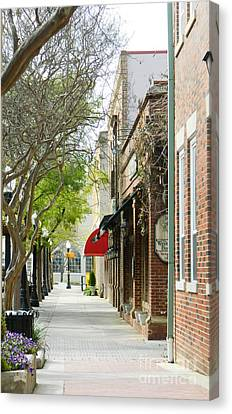 Downtown Aiken South Carolina Canvas Print by Andrea Anderegg