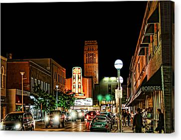 Downtown Ann Arbor Canvas Print by Pat Cook
