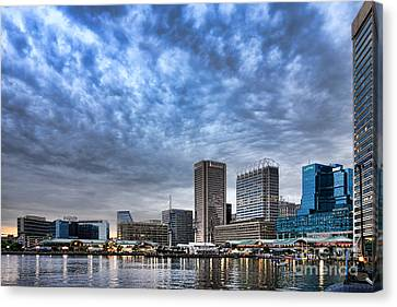 Downtown Baltimore Canvas Print by Olivier Le Queinec