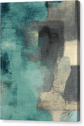 Downtown Blue Rain I Canvas Print by Lanie Loreth