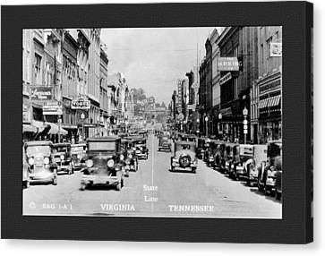 Downtown Bristol Va Tn 1931 Canvas Print by Denise Beverly