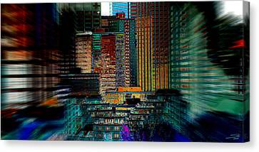 Downtown Chaos Canvas Print by Stuart Turnbull