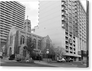Downtown Church  Canvas Print
