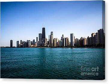 Downtown City Buildings In The Chicago Skyline Canvas Print by Paul Velgos