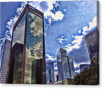 Canvas Print featuring the photograph Downtown Dallas by Kathy Churchman