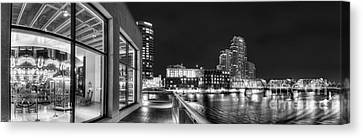 Downtown Grand Rapids In Black And White Canvas Print by Twenty Two North Photography