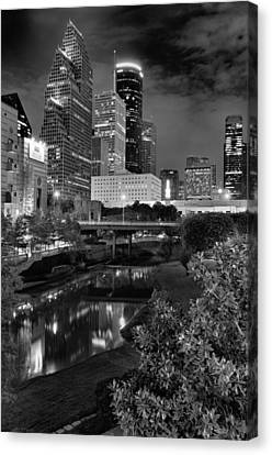 Downtown Houston At Night. Canvas Print by Silvio Ligutti