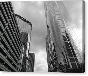 Rich Canvas Print - Downtown Houston by Dan Sproul