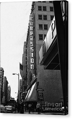 Canvas Print featuring the photograph Downtown La - Mid '70's by Doc Braham