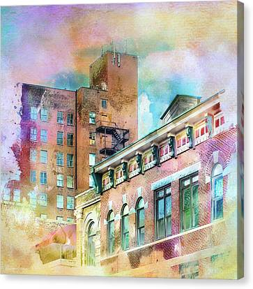Downtown Living In Color Canvas Print by Melissa Bittinger
