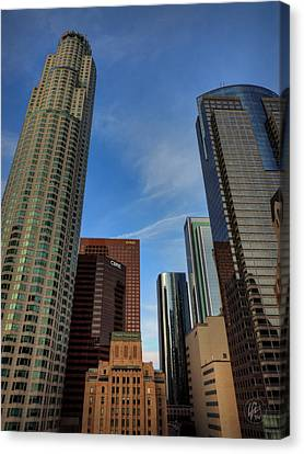 Downtown Los Angeles 001 Canvas Print by Lance Vaughn