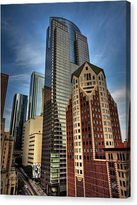 Downtown Los Angeles 003 Canvas Print by Lance Vaughn