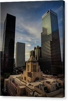 Downtown Los Angeles 004 Canvas Print by Lance Vaughn