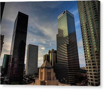 Downtown Los Angeles 005 Canvas Print by Lance Vaughn