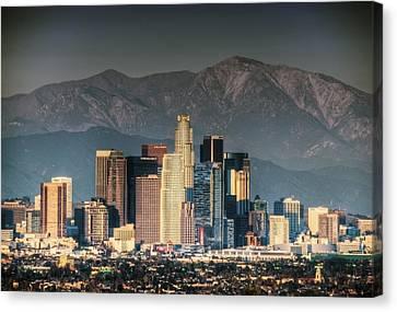 Downtown Los Angeles Canvas Print by Natasha Bishop