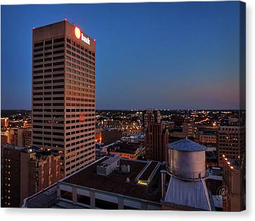 River Canvas Print - Downtown Memphis Twilight 001 by Lance Vaughn