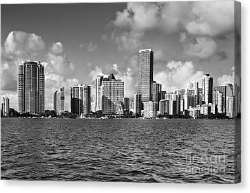 Downtown Miami Canvas Print by Eyzen M Kim
