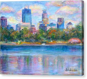 Downtown Minneapolis Skyline From Lake Calhoun Canvas Print