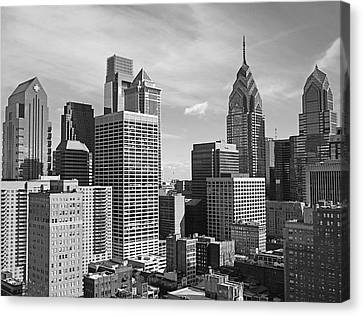 Downtown Philadelphia Canvas Print by Rona Black