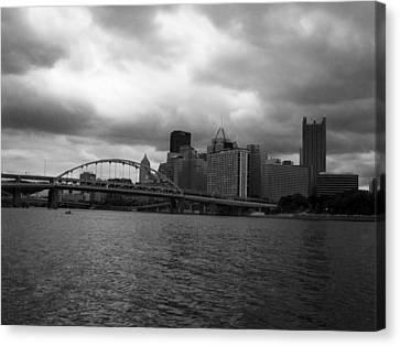 Downtown Pittsburgh Canvas Print by Joyce  Wasser