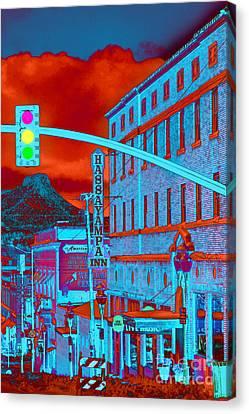 Downtown Prescott Arizona  Canvas Print by K D Graves