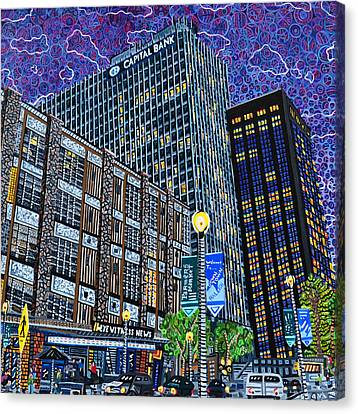 Downtown Raleigh - Hudson Building Canvas Print by Micah Mullen