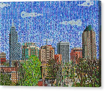 Downtown Raleigh - View From Boylan Street Bridge Canvas Print by Micah Mullen