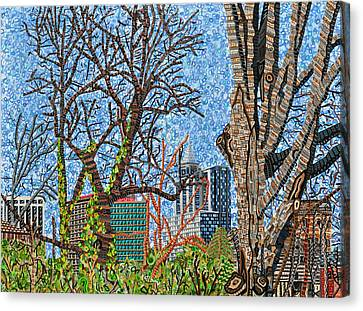 Downtown Raleigh - View From Chavis Park Canvas Print by Micah Mullen