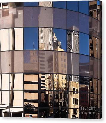 Canvas Print featuring the photograph Downtown Reflections by Lawrence Burry