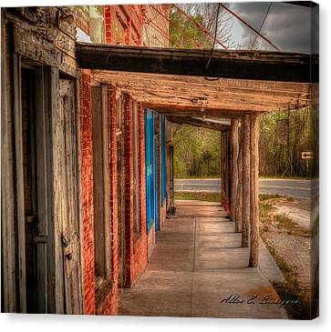 Downtown Richards Texas Canvas Print by Allen Biedrzycki