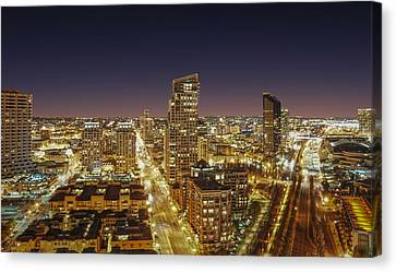 Canvas Print featuring the photograph Downtown San Diego by Alex Weinstein