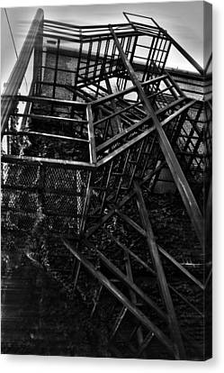 Downtown Stairs Canvas Print by Kenal Louis